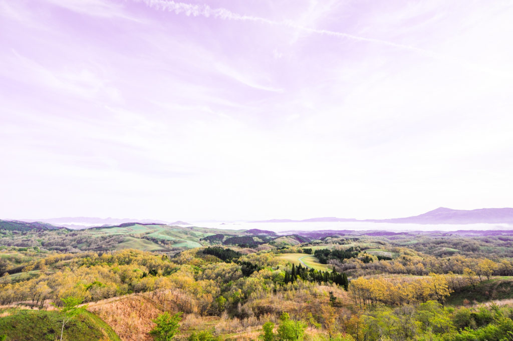 押戸石の丘からの雲海(小国方面)